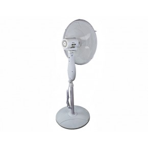 Wentylatory-podlogowe - wentylator podłogowy stojący biały z pilotem i timerem 40w wysokość 130cm da-1611 descon