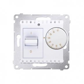 Biały regulator temperatury z czujnikiem wewnętrznym DRT10W.02/11 Simon 54 Kontakt-Simon