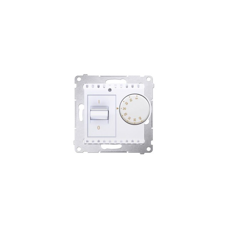 Regulatory-temperatury - biały regulator temperatury z czujnikiem wewnętrznym drt10w.02/11 simon 54 kontakt-simon firmy Kontakt-Simon