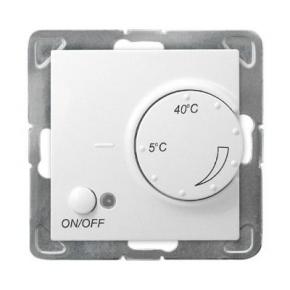 Biały regulator temperatury z czujnikiem napowietrznym RTP-1YN/m/00 IMPRESJA OSPEL