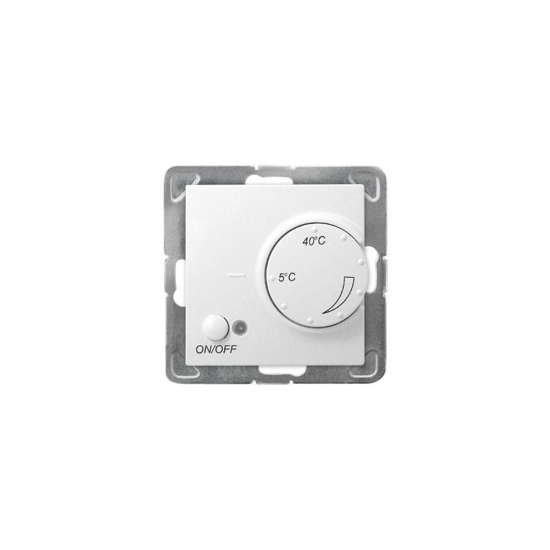 Regulatory-temperatury - biały regulator temperatury z czujnikiem napowietrznym rtp-1yn/m/00 impresja ospel firmy OSPEL