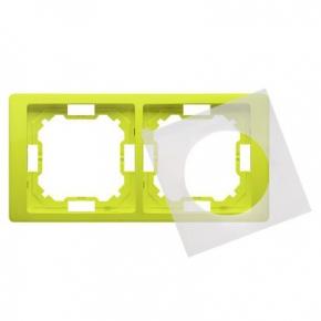 Ramka podwójna IP44 limonkowa BMRC2B/036 Simon Basic Neos Kontakt-Simon