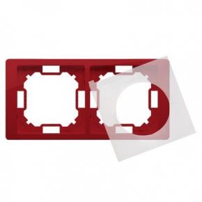 Ramka podwójna IP44 rubinowa BMRC2B/033 Simon Basic Neos Kontakt-Simon