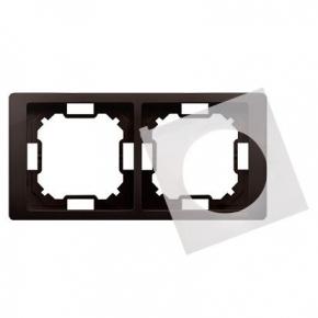 Ramka podwójna IP44 czekoladowa BMRC2B/47 Simon Basic Neos Kontakt-Simon