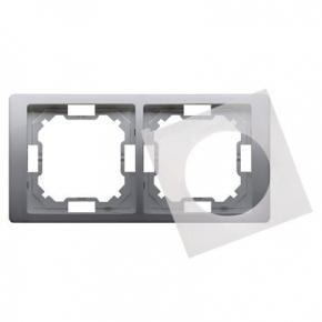 Ramka podwójna IP44 inox BMRC2B/21 Simon Basic Neos, Kontakt-Simon