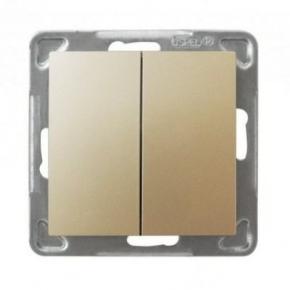 Włącznik schodowy + jednobiegunowy złoty ŁP-9Y/M/28 IMPRESJA OSPEL
