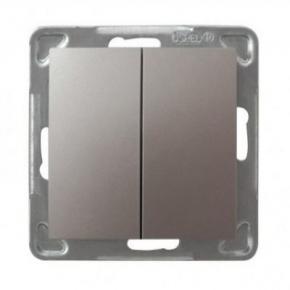 Tytanowy włącznik schodowy + jednobiegunowy ŁP-9Y/M/23 IMPRESJA OSPEL