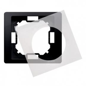 Ramka pojedyncza z uszczelką IP44 grafitowa MRC1B/28 Simon Basic Neos Kontakt-Simon