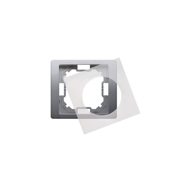 Ramki-pojedyncze - ramka hermetyczna pojedyncza ip44 inox bmrc1b/21 simon basic neos kontakt-simon firmy Kontakt-Simon