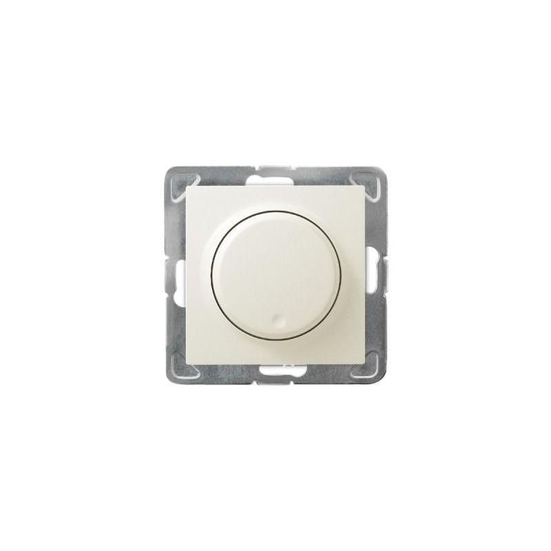 Regulatory-oswietlenia - ściemniacz ecru przyciskowo-obrotowy łp-8y/m/27 impresja ospel firmy OSPEL