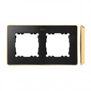 Ramka podwójna grafitowa złota 8201620-242 Simon 82 Detail Kontakt-Simon
