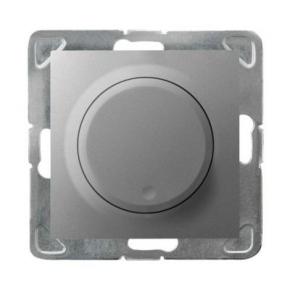 Srebrny ściemniacz do oświetlenia żarowego i halogenowego ŁP-8Y/m/18 IMPRESJA OSPEL