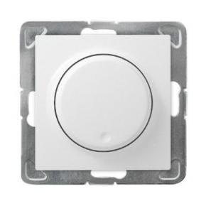 Ściemniacz przyciskowo-obrotowy biały ŁP-8Y/m/00 IMPRESJA OSPEL