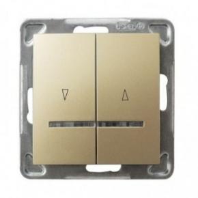 Włącznik żaluzjowy złoty z podświetleniem ŁP-7YS/m/28 IMPRESJA OSPEL
