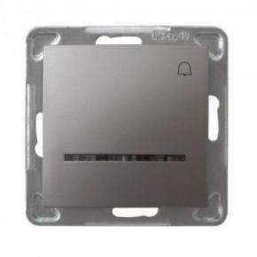 Przycisk dzwonkowy tytanowy z podświetleniem ŁP-6YS/m/23 IMPRESJA OSPEL