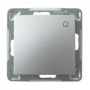 Srebrny włącznik zwierny dzwonek ŁP-6Y/m/18 IMPRESJA OSPEL