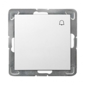 Przycisk dzwonkowy biały ŁP-6Y/m/00 IMPRESJA OSPEL