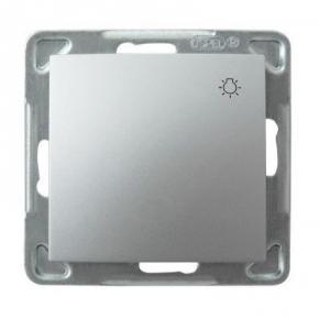 Srebrny włącznik zwierny światło ŁP-5Y/m/18 IMPRESJA OSPEL