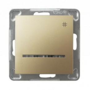 Złoty krzyżowy włącznik z podświetleniem ŁP-4YS/M/28 IMPRESJA OSPEL