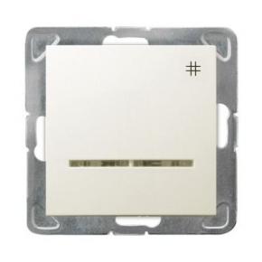 Włącznik ECRU krzyżowy z podświetleniem ŁP-4YS/M/27 IMPRESJA OSPEL