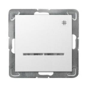 Krzyżowy biały włącznik z podświetleniem ŁP-4YS/m/00 IMPRESJA OSPEL