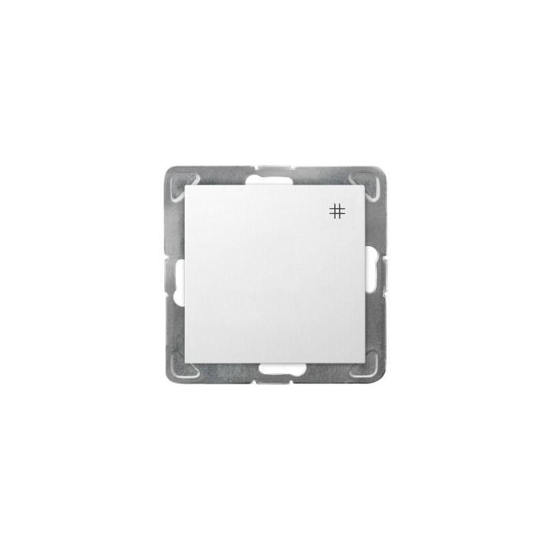 Biały włącznik krzyżowy ŁP-4Y/m/00 IMPRESJA OSPEL