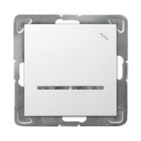 Biały schodowy włącznik z podświetleniem ŁP-3YS/m/00 IMPRESJA OSPEL