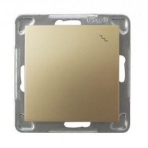 Złoty włącznik schodowy ŁP-3Y/m/28 IMPRESJA OSPEL