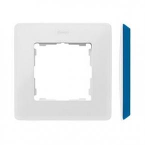 Ramka pojedyncza biała z bokiem indygo 8200610-201 Simon 82 Detail Kontakt-Simon