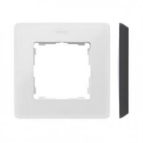 Ramka pojedyncza biała z czarną wstawką 8200610-200 Simon 82 Detail Kontakt-Simon