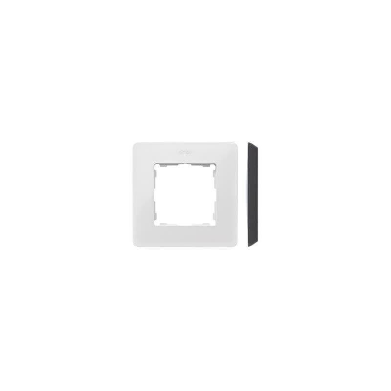 Ramki-pojedyncze - ramka pojedyncza biała z czarną wstawką 8200610-200 simon 82 detail kontakt-simon firmy Kontakt-Simon