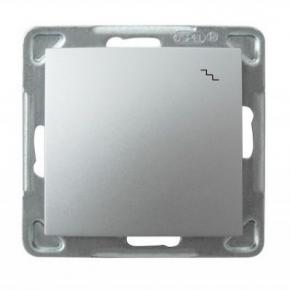 Srebrny włącznik schodowy ŁP-3Y/m/18 IMPRESJA OSPEL