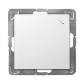 Biały włącznik schodowy ŁP-3Y/m/00 IMPRESJA OSPEL