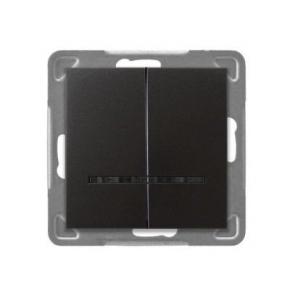 Włącznik antracytowy świecznikowy z podświetleniem ŁP-2YS/m/50 IMPRESJA OSPEL
