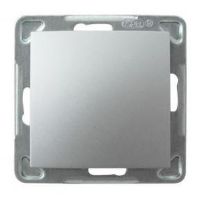 Srebrny włącznik jednobiegunowy ŁP-1Y/m/18 IMPRESJA OSPEL