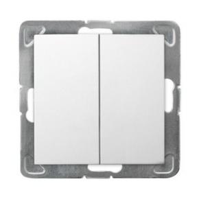 Biały podwójny włącznik zwierny ŁP-17Y/m/00 IMPRESJA OSPEL