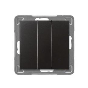 Włącznik antracytowy potrójny ŁP-13Y/m/50 IMPRESJA OSPEL