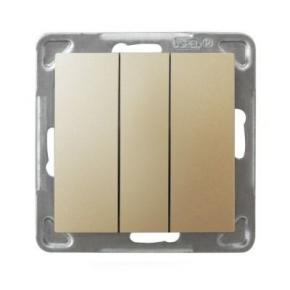 Potrójny złoty włącznik ŁP-13Y/m/28 IMPRESJA OSPEL