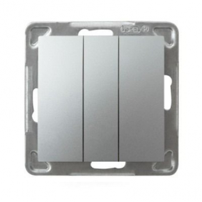Potrójny srebrny włącznik ŁP-13Y/m/18 IMPRESJA OSPEL