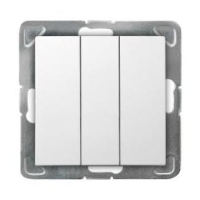 Biały włącznik potrójny ŁP-13Y/m/00 IMPRESJA OSPEL