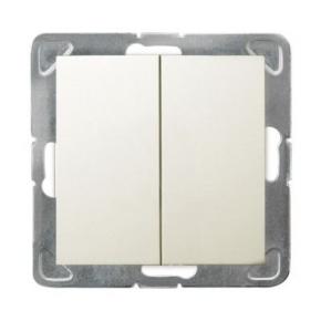 Podwójny włącznik schodowy ECRU ŁP-10Y/m/27 IMPRESJA OSPEL
