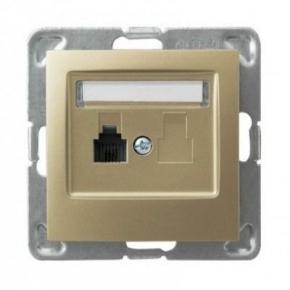 Pojedyncze złote gniazdo telefoniczne RJ11 GPT-1Y/m/28 IMPRESJA OSPEL