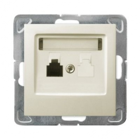 Pojedyncze gniazdo telefoniczne ECRU RJ11 GPT-1Y/m/27 IMPRESJA OSPEL