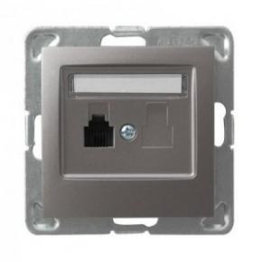 Tytanowe pojedyncze gniazdo telefoniczne RJ11 GPT-1Y/m/23 IMPRESJA OSPEL