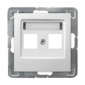 Biała obudowa gniazda podwójnego Keystone GPK-2Y/p/00 IMPRESJA OSPEL