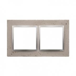 Ramka podwójna betonowa Butti cementi DRN2/92 Simon 54 Nature Kontakt-Simon