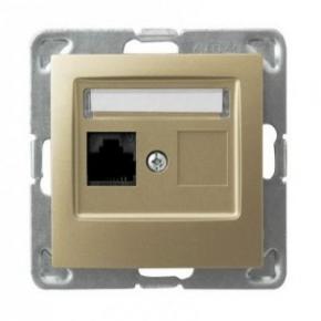 Pojedyncze złote gniazdo komputerowe RJ45 5e MMC GPK-1Y/K/m/28 IMPRESJA OSPEL