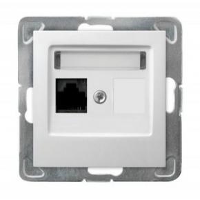 Białe pojedyncze gniazdo komputerowe RJ45 5e MMC GPK-1Y/K/m/00 IMPRESJA OSPEL