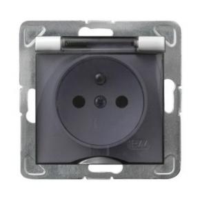 Białe gniazdo elektryczne podtynkowe bryzgoszczelne z uziemieniem GPH-1YZ/m/00/d IMPRESJA OSPEL