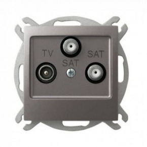 Tytanowe gniazdo antenowe RTV z dwoma wyjściami SAT 1,5dB GPA-Y2S/m/23 IMPRESJA OSPEL